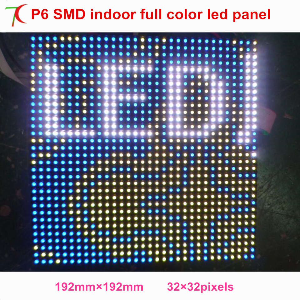 P6 Indoor Full Color Normal Size Led Module For Advertisement Led Video Wall Led Display