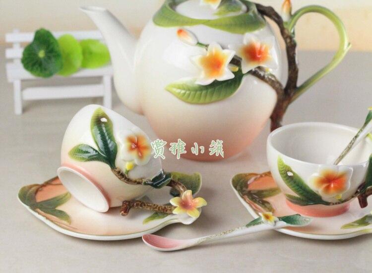 Ev ve Bahçe'ten Çay Takımı Setleri'de Seramik Kahve çay seti, bir pot ve iki bardak'da  Grup 2
