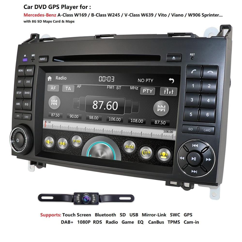 Ossuret Car In Dash DVD Player For <font><b>Mercedes</b></font>-Benz <font><b>W169</b></font> A150/A160/<font><b>A170</b></font>/A180/A200 W245 B160/B170/B180/B200 W639 Vito/Viano GPS Navi image