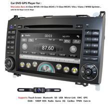 Ossuret samochód w desce rozdzielczej odtwarzacz DVD dla mercedes benz W169 A150/A160/A170/A180/A200 W245 B160/B170/B180/B200 W639 Vito/Viano nawigacja GPS