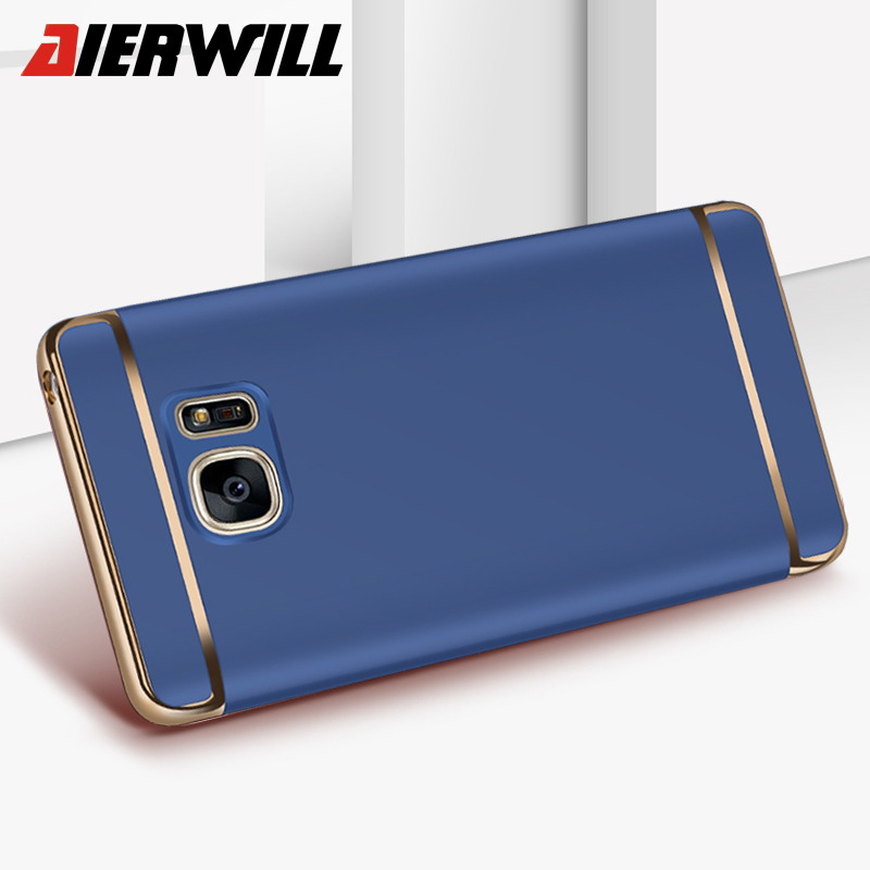 Luxury Plating Gold Case For Samsung Galaxy S6 S7 Edge S8 Plus Case PC Hard Shell Slim Back Cover For Samsung J3 J5 J7 2017 Case