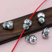 TJP 10 pcs Tibetan Silver Tone Calabash Cucurbit Gourd Spacers Beads Charms Pendants for Bracelets DIY Jewelry Making Findings