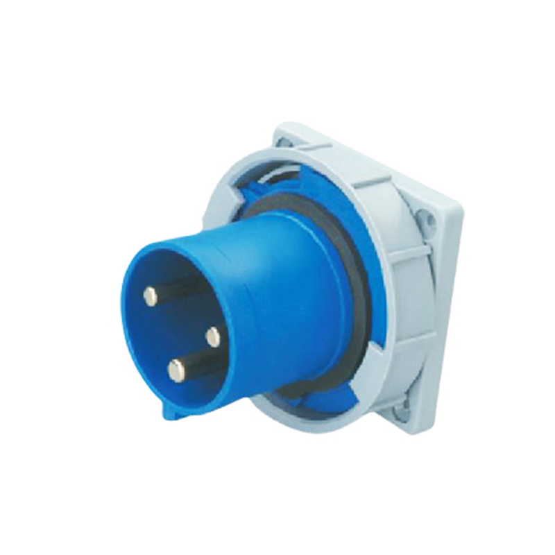 125A 3Pin industrial implement hide direct socket connector SF-643 concealed installation 220-240V~2P+E waterproof IP67  63a 3pin 220 240v industrial waterproof hidden oblique socket waterproof grade ip67 sf 433