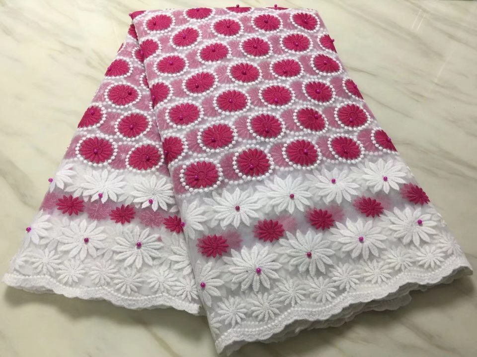 5Yards/pc Nice looking white french net lace and magenta flower embroidery african mesh lace fabric for dress BN108-55Yards/pc Nice looking white french net lace and magenta flower embroidery african mesh lace fabric for dress BN108-5