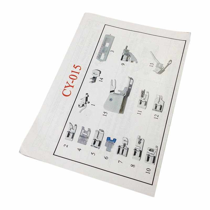 15 шт. многофункциональная швейная машина аксессуары для ног швейная машина пресс для ног набор с коробка давления