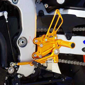Full CNC aluminum Motorcycle footrest footpeg pedal foot peg Rearset Rear Set For YAMAHA YZF-R6 R6 2006-2015