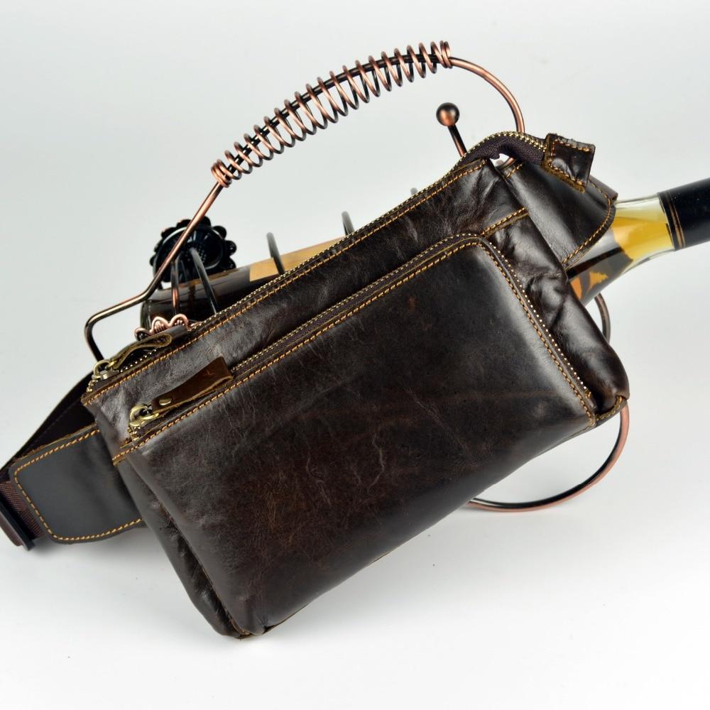 2015 aitoa nahkaa vyötäröpakkaus cowhide messenger-laukut miehille pienet laukut rintapaketit lehmännahka käsilaukut lompakko fanny pack