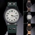 New! 2016 Спорт Военная Часы Мода Повседневная Армия Кварцевые Часы Кожа Аналоговые Мужчины Роскошные Наручные Часы xfcs Подарки На День Рождения