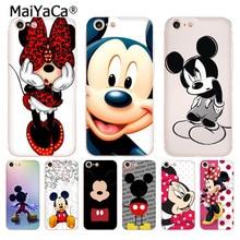 MaiYaCa для iphone 7 6 X чехол с рисунком Микки и Минни Маус Прозрачный чехол для телефона для iphone 8 7 6 6S Plus X 5 5S XS XR XSMAX