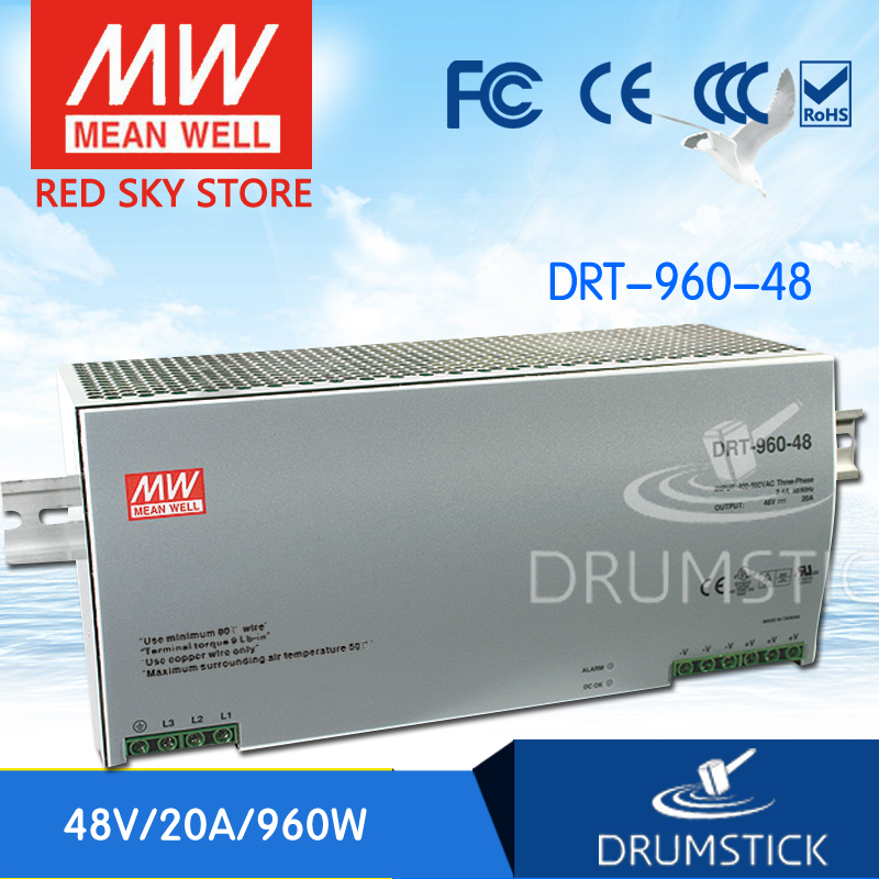 Advantages MEAN WELL DRT-960-48 48V 20A meanwell DRT-960 48V 960W Single Output Industrial DIN RAIL Power Supply mean well original drt 960 24 24v 40a meanwell drt 960 24v 960w single output industrial din rail power supply