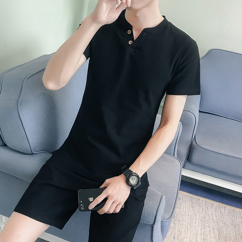Summer Cotton And Hemp Short-sleeved Men's Soil China's Wind Flax Half-sleeved Clothes, T-shirts, Men's Suits