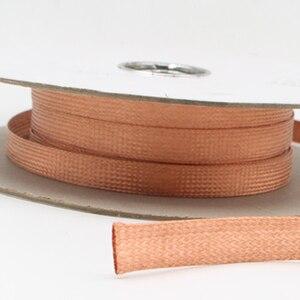 Image 3 - Hifi כבל שרוול חוט 6mm 8mm 10mm 15mm מיגון לנדן אוטומטי רתימת חוט טהור נחושת קלוע DIY כבל שרוולים