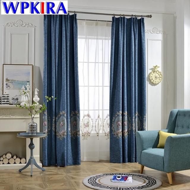 Elegante Dicke Faux Bettwäsche Blackout Vorhänge für Wohnzimmer ...