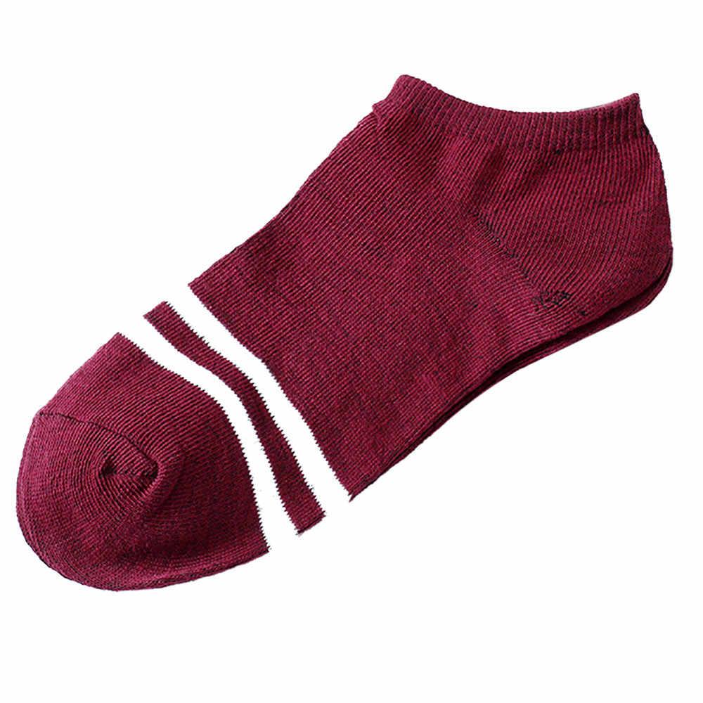1 זוגות יוניסקס גברים & נשים גרבי פס נוח קיץ דק כותנה נעלי בית גרב קצר קרסול calcetines cortos #5