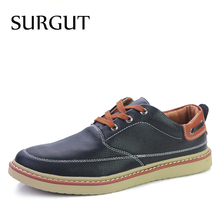 SURGUT Brand 2017 New Breathable Summer Moccasins Casual Men Loafers Leather Shoes Men Flats High Quality pu Leather Men Shoes