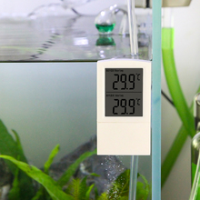 цена на Senzeal Aquarium Double LCD Display Digital Electronic Pet Thermometer Digital Outdoor Temperature Measure Tool Aquatic Product