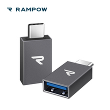 ФОТО Rampow 2-Pack USB C AdaptersUSB 31 OTGType-C Male to USB A Female Adapter10Gbps Data Transferfor MacBook for Samsung