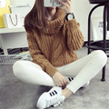 Women Sweater fashion Autumn Winter Knitted sweater Warm Turtleneck Pullover Women casual knitwear Sweater DL3483