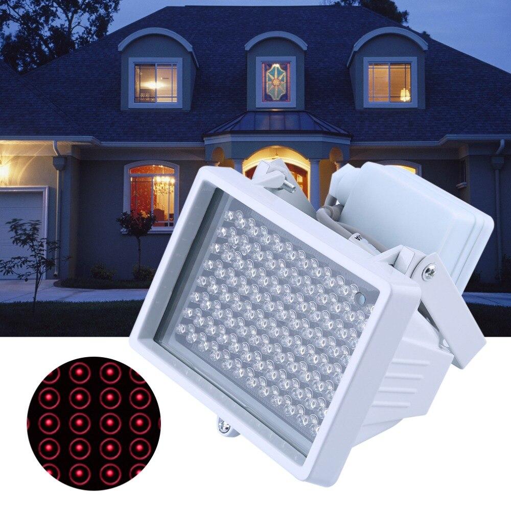 96 PCS LED Light Night Vision Infrared Light IR Lamp Universal Lamp For CCTV Camera Home Yard Garden Security Lamp DC 12V 2A