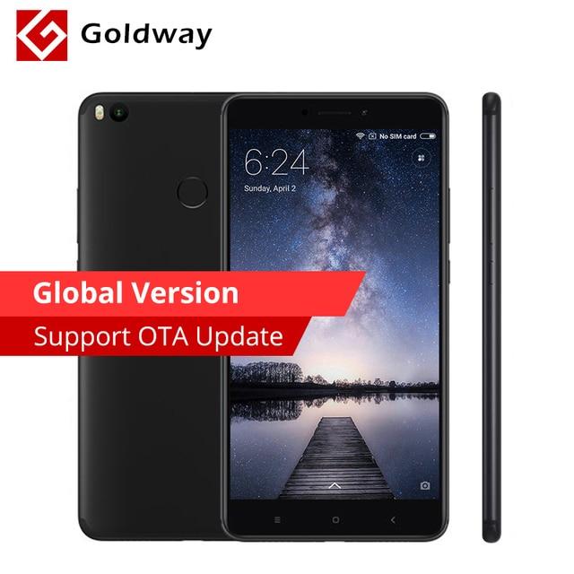 """Глобальная Версия Оригинал Сяо Mi Max 2 Max2 4 ГБ Оперативная память 64 ГБ мобильный телефон 6.44 """"Snapdragon 625 восьмиядерный 12MP отпечатков пальцев 5300 мАч"""