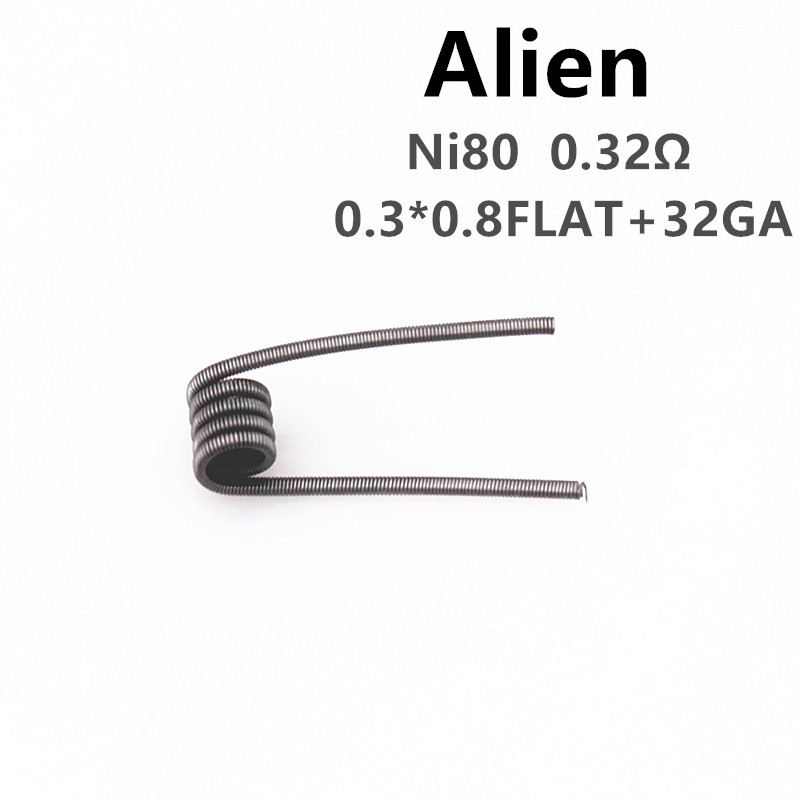 Glotech Ni80 Alien Tiger Fused Clapton Premade Coils Hive QUAD Mixed Twisted Prebuilt Coil for DIY RDA Atomizer Coils Building
