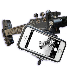 Smartphone Fixation Mount Holder for Guitar Ukulele Video Recording Cell Phones Camera Mount Bracket Adapter for Gopro Action