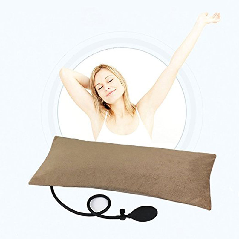 Tcare Multifunctional Portable Air Inflatable Pillow for Lower Back Pain,Orthopedic Lumbar Support Cushion
