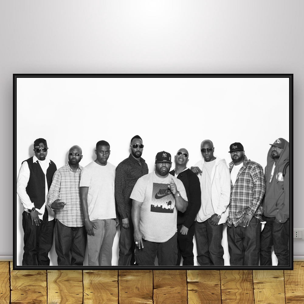 American R&B Wu Tang Clan Art Silk Poster Wall Decor 12x18 24x36Inch
