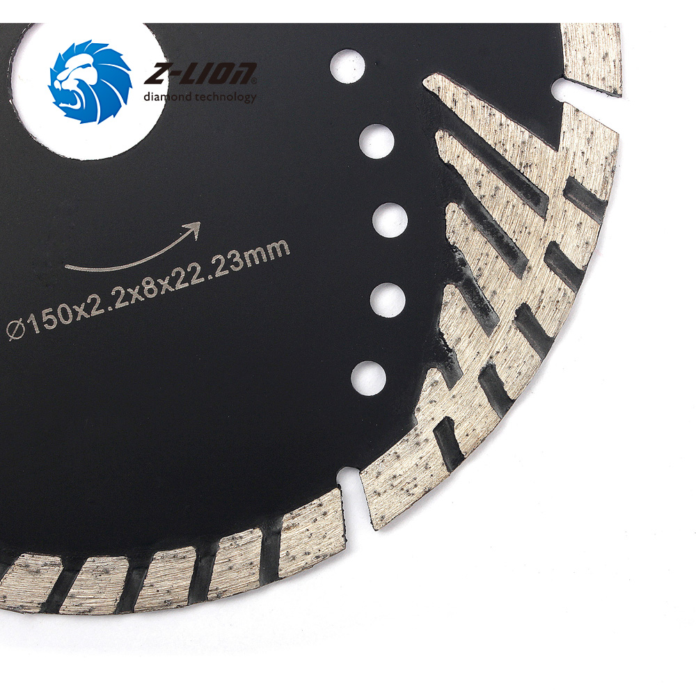 "Image 3 - Z LION 6"" 150mm Diamond Saw Blade With Slant Protection Teeth for Stone Granite Marble Concrete Diamond Cutting Disc-in Saw Blades from Tools"