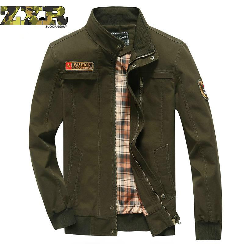 Spring Autumn Military Jacket Men Army Green Casual Bomber Tactical Jackets Coat Ma1 Pilot Outwear Jacket Plus Size M-5xl image