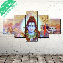 5 Piece Lord God Modern Artwork Wall Art Canvas Poster and Print Painting Decorative Picture Home Decor