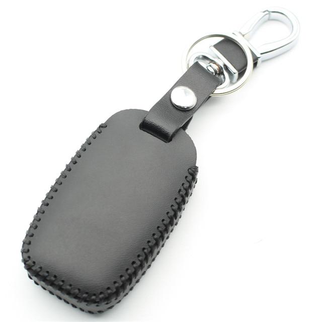 Flybetter couro genuíno 6 botão keyless entrada inteligente caso chave capa para kia sedona/grand/carnaval/sorento estilo do carro l498 2