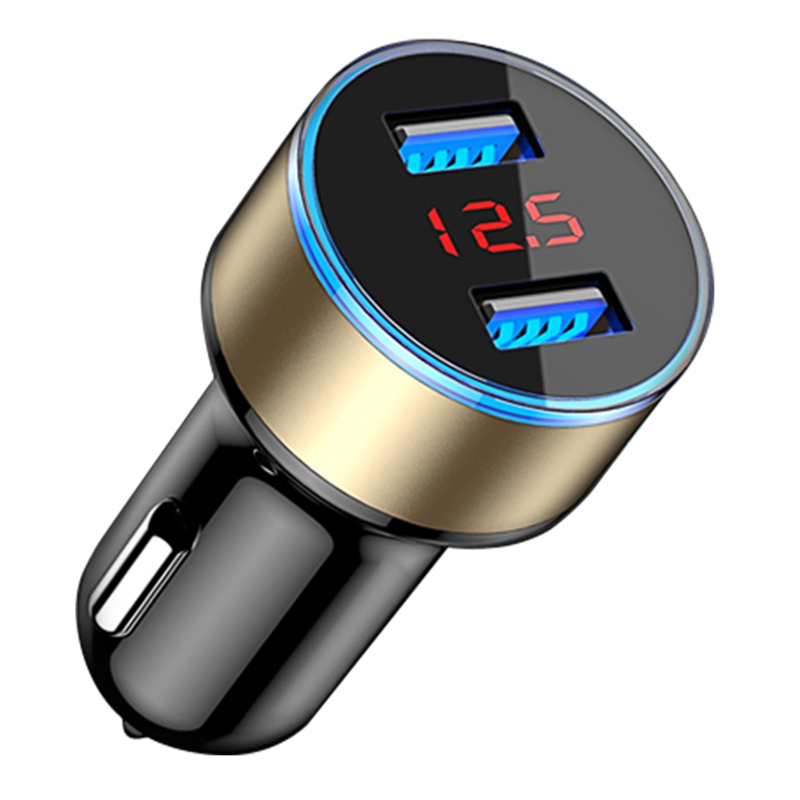 Car Charger 5V 3.1A With LED Display Universal Dual Usb Phone Car-Charger for  Samsung S8 iPhone X 8 Plus Tablet etc Gol