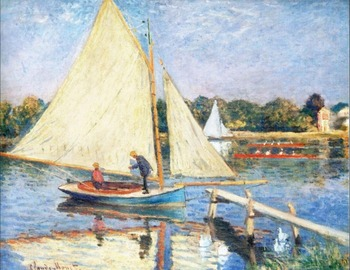 High quality Oil painting Canvas Reproductions Boaters at Argenteuil (1874) By Claude Monet hand painted