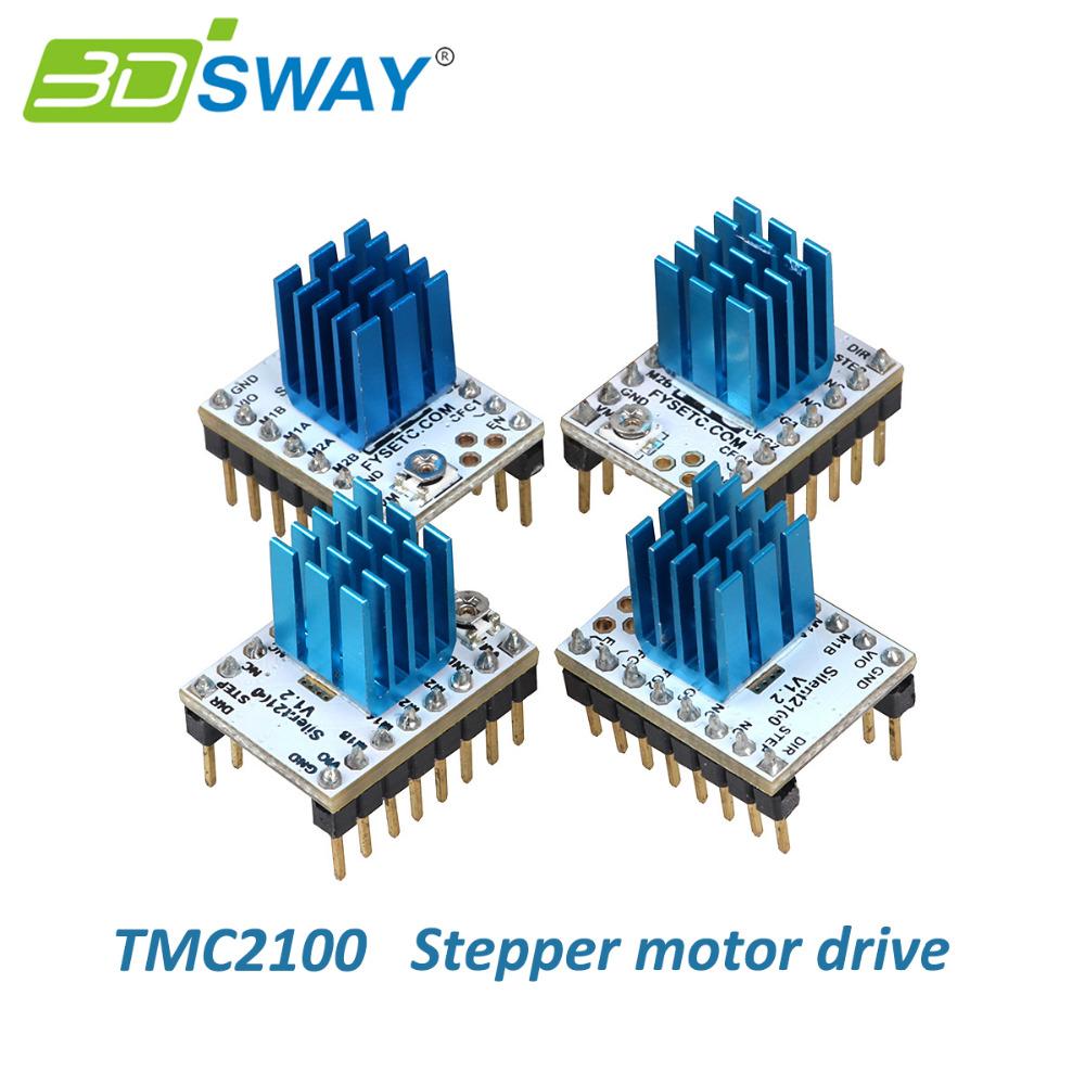 Prix pour 3 DSWAY 3D Imprimante Pièces 4 pcs/lot MKS TMC2100 Moteur pas à pas Pilote Stepstick Compatible avec 32 bits Contrôleur Lerdge Carte Mère