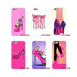 Аксессуары для мобильного телефона чехлы Красного высокая обувь на каблуке для samsung Galaxy S4 S5 мини S6 S7 край S8 S9 S10 Plus Note 3 4 5 8 9