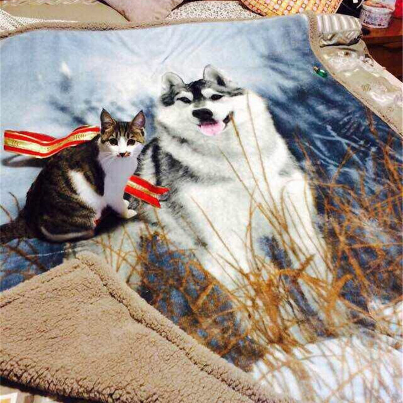 Online Buy Wholesale Wolf Fleece Blanket From China Wolf