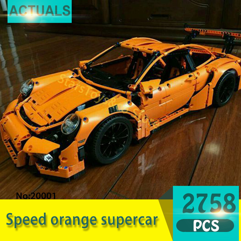 Lepin 20001 2758Pcs Technic series Modified orange sports car Model Building Blocks Set  Bricks Toys For Children Gift 42056 потолочный светильник odeon 2758 2758 9c