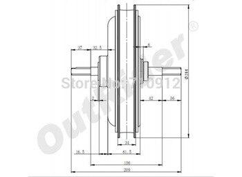 Venta caliente envío gratis trasero freno de disco 36 V 1000 W PopularPowerful cepillado eléctrico motorOR01I3