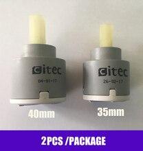 Universal  Wholesale 4PCS/Lot 35mm / 40mm Ceramic Cartridge Faucet Cartridge Mixer  Faucet Accessories Rotation Flat Base
