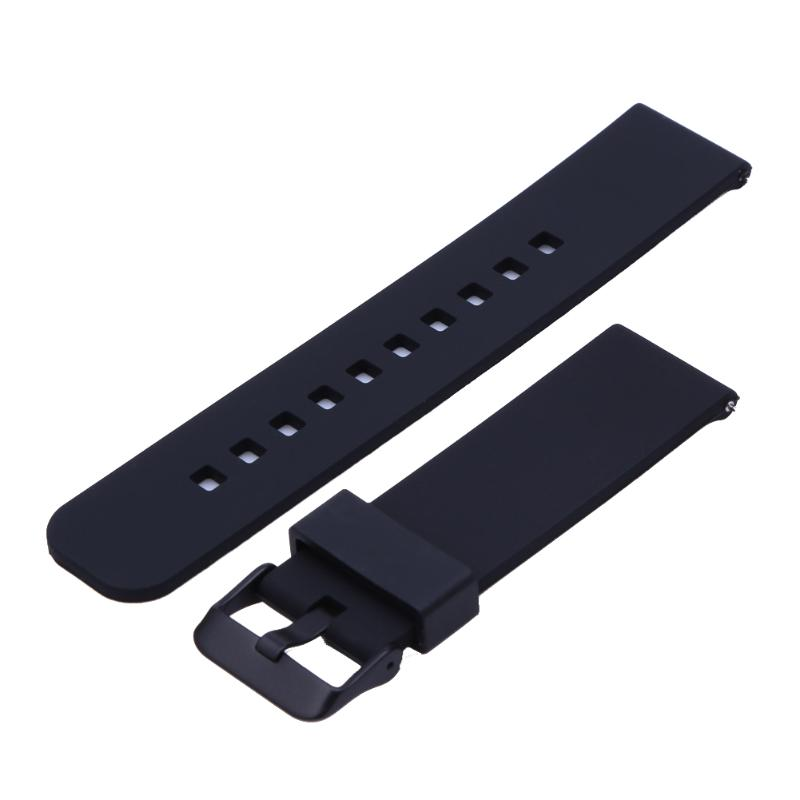 Soft Silicone Watch Band Replacement Strap For Samsung R380 / R381 / R382 For Pebble Time For Cookoo2 Watch Watchband