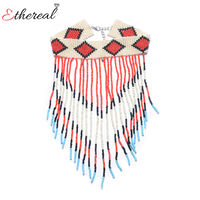 Ethereal Fashion Lady Ethnic Choker Statement Necklaces Pendants 2017 Collier Femme Collar For Women Party Gift