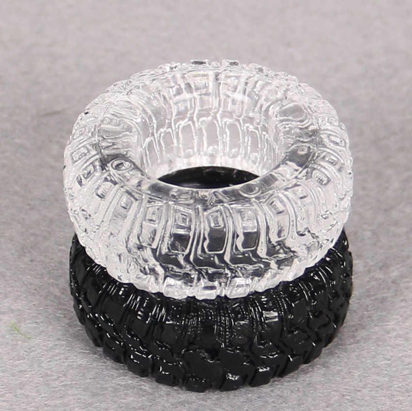 2 本タイヤ型シリコーン遅延射精巨根リングアダルト製品男性のおもちゃコックリング色ランダムコックリング