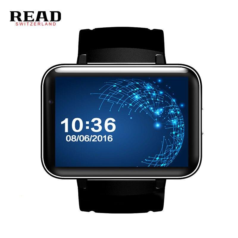 Lire DM98 montre intelligente prise en charge GPS carte SIM et Wifi GSM BT lecteur vidéo sommeil Tracker caméra pour Whatsapp android Bracelet intelligent