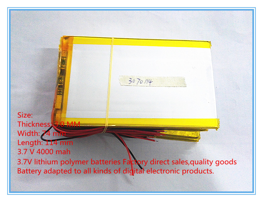 3.7 V lithium Tablet polymer battery <font><b>4000</b></font> <font><b>mah</b></font> ultra-thin high-capacity DIY tablet 3074114 image