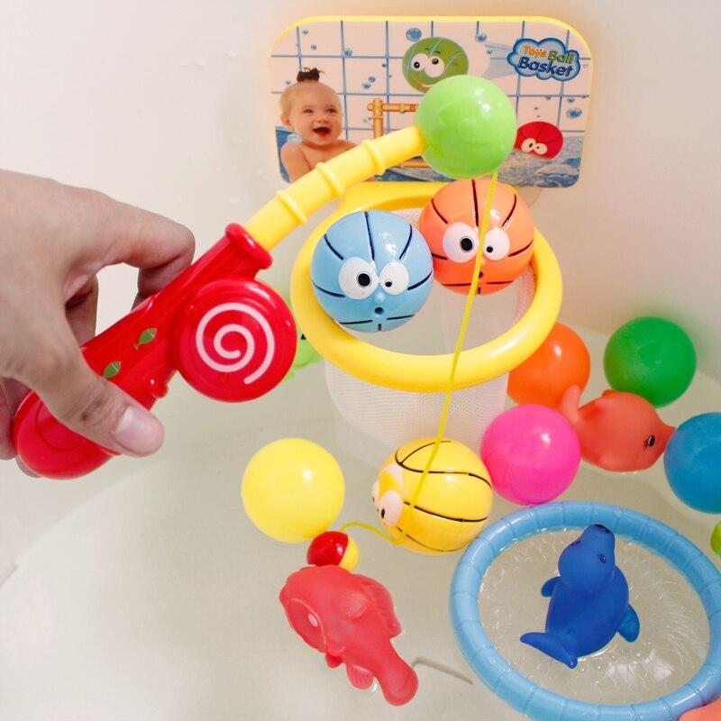 Infant Shining Children\'s bath toys baby shower cylinder basketball ...