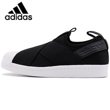 Original Authentic Adidas Originals SUPERSTAR SlipOn Unisex Skateboarding Shoes Sneakers Anti-Slippery Hard-Wearing Low Top Flat