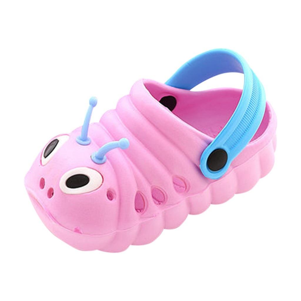 Г.; летние пляжные сандалии с милым рисунком для маленьких мальчиков и девочек; шлепанцы; вьетнамки - Цвет: Pink