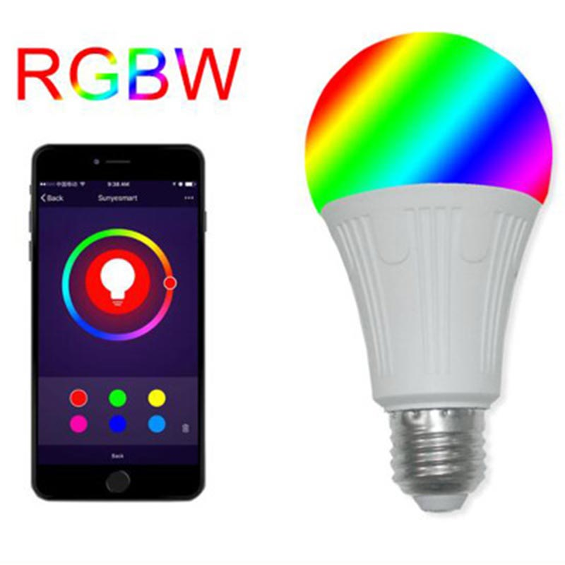 LED Bubble Ball Lighting Bulbs Intelligent Alexa Speech Control E27/B22 RGB+W Living Room Wi-Fi 2.4GHz Wireless Lighting Bulbs