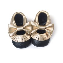 Baby Cute Bow Shoes Soft Sole Moccasin Newborn Babies PU leather Slip-on First Walker